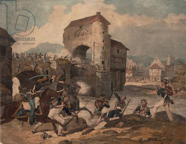 Pursuit of the French at Toulouse, 1814 (w/c on paper)