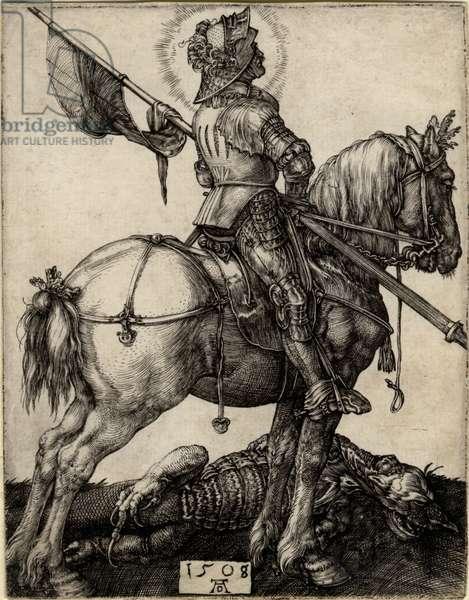 St George on horseback, 1508 (engraving)