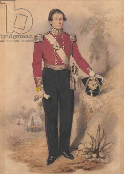 Officer of a Battalion Company, 1840 (w/c on paper)