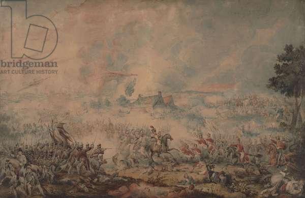 The Battle of Waterloo, 1816 (w/c on paper)