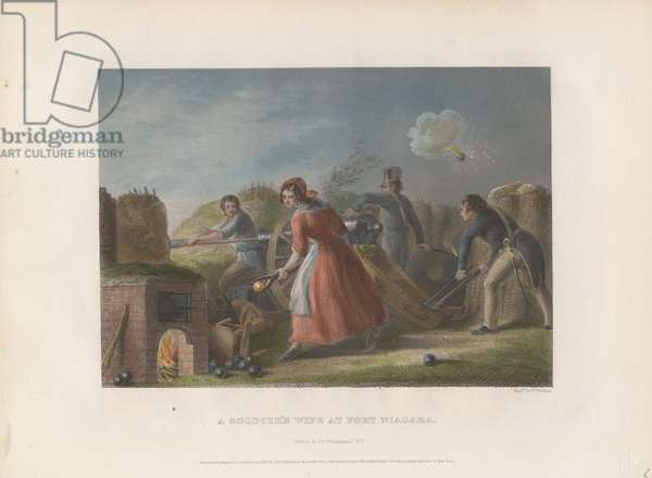 A Soldier's Wife at Fort Niagara, 1860 (coloured engraving)