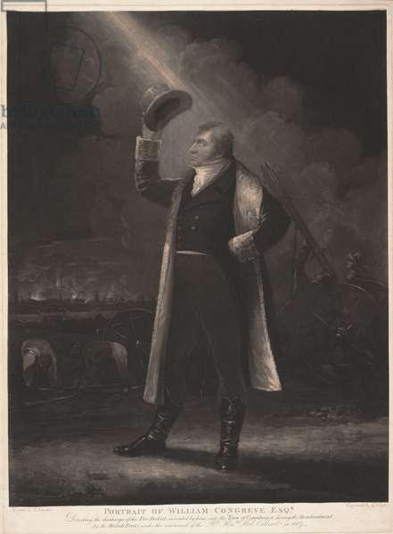 Portrait of William Congreve Esq., 1807 (mezzotint)