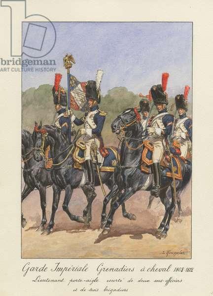 Garde Impériale - Grenadiers à cheval 1808-1812, 1945 (w/c on paper)