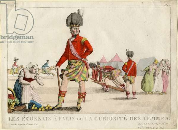 Scots in Paris, or The Ladies' Curiosity, 1815 (coloured engraving)