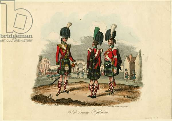 79th or Cameron Highlanders, 1825 (etching)