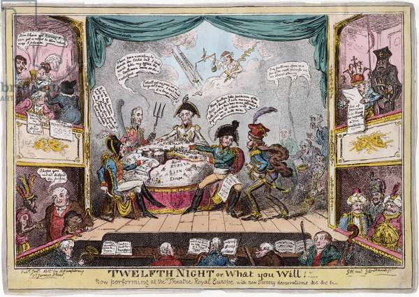 'Twelfth Night or What You Will', 1815 (colour litho)