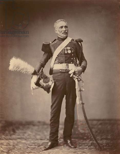 M. Dreuse of the 2nd Light Horse Lancers of the Guard of 1813-14, 1860 (b/w photo)