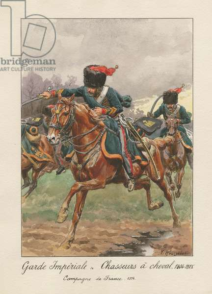 Garde Impériale - Chasseurs à cheval 1804-1815, 1945 (w/c on paper)