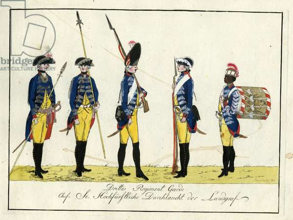 Drittes Regiment Garde, c.1784 (coloured engraving)