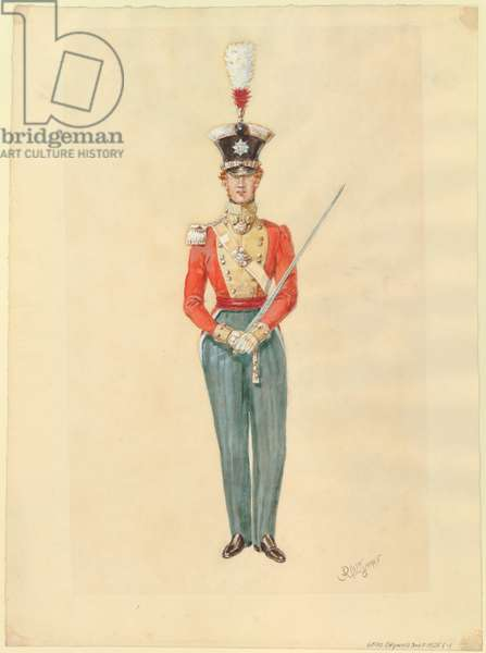 Officer, 1825 (w/c on paper)