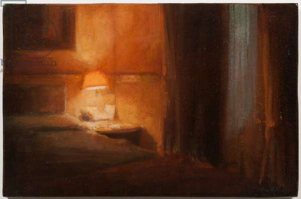 03:50 Witness, 2012 (oil on card laid on panel)