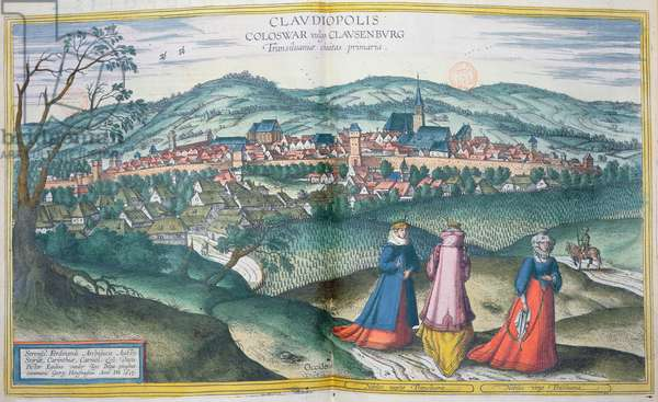 Map of Claudiopolis, from 'Civitates Orbis Terrarum' by Georg Braun (1541-1622) and Frans Hogenberg (1535-90) Brussels, 1574 (coloured engraving)