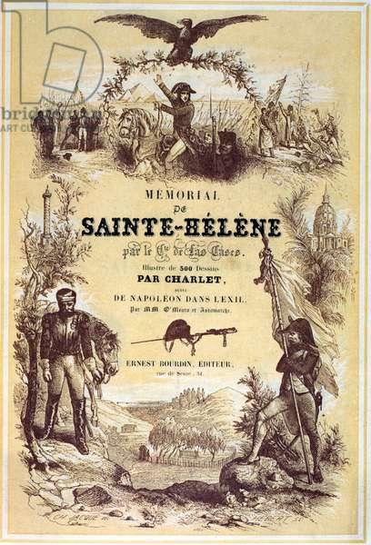 Front Cover of 'Memorial de Sainte-Helene' by Emmanuel de Las Cases (1766-1842) published 1842 (litho)