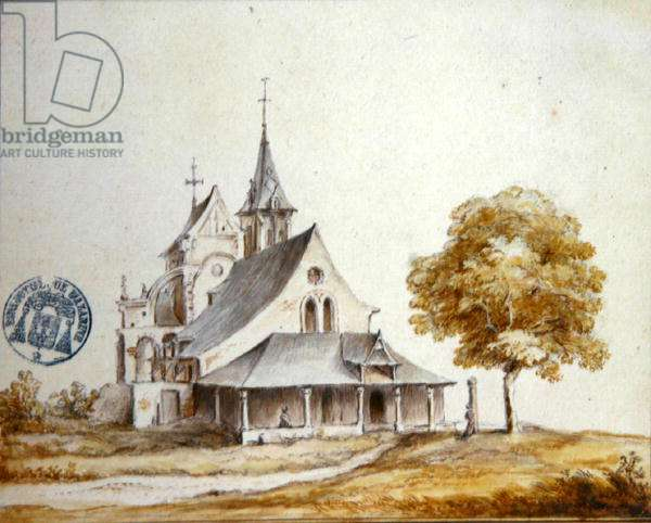 View of the Church at Meudon (w/c on paper)
