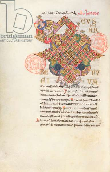 Ms 364 Letter 'D' (Deus) Initial from the Breviary of Monte Cassino (vellum)