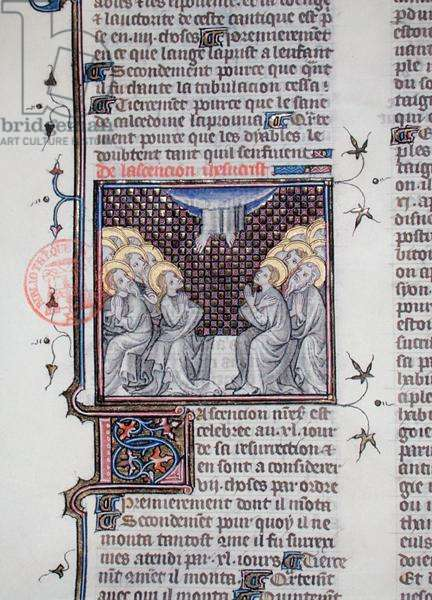 Ms 1729 The Ascension, from 'Legenda Sanctorum Aurea' by Jacques de Voragine, c.1370 (vellum)