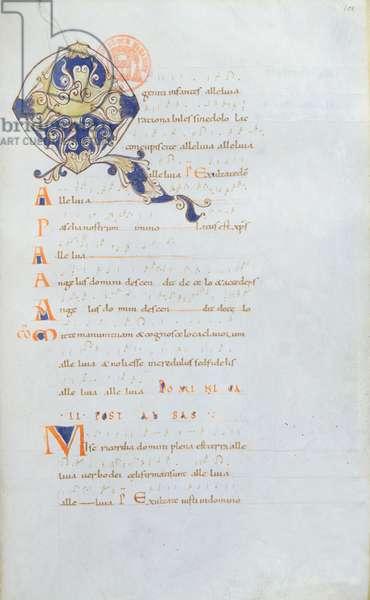 Ms 384 Antiphonary of Saint Denis Abbey, 11th century (vellum)