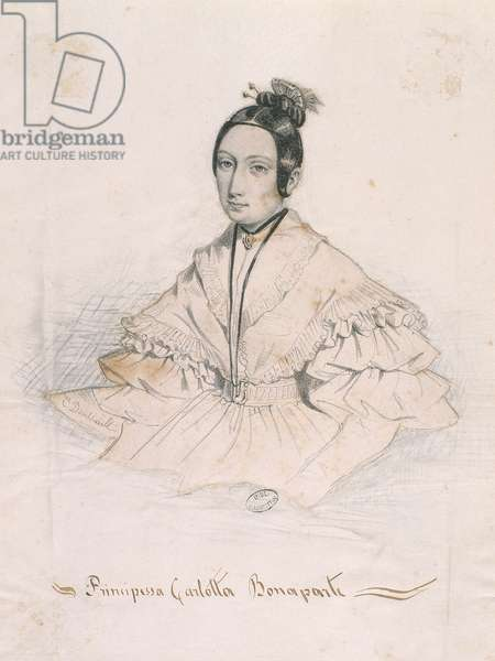 Principessa Carlotta Bonaparte (coloured engaving)