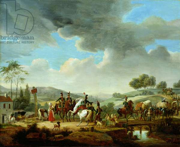 Convoy Escorted by French Dragoons (oil on canvas)