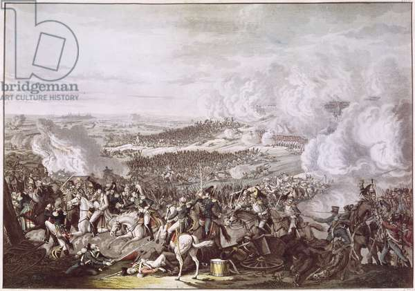 The Flight of Napoleon (1769-1821) after the Battle of Waterloo, 18th June 1815, c.1815-30 (colour litho)