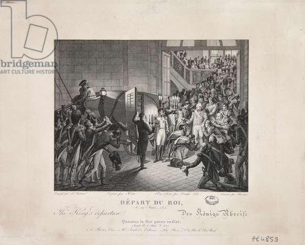 Departure of the King, 19 March 1815, c.1820 (engraving)