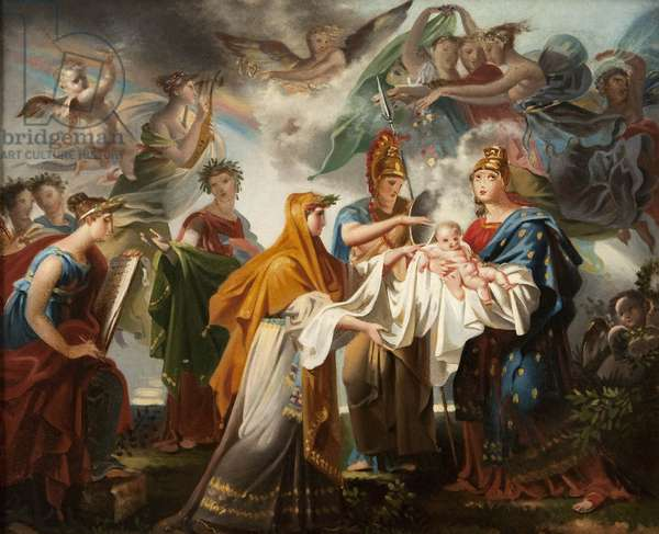 Allegory of the Birth of the King of Rome, renamed after 1814 Allegory of the Birth of Louis XIV (oil on canvas)