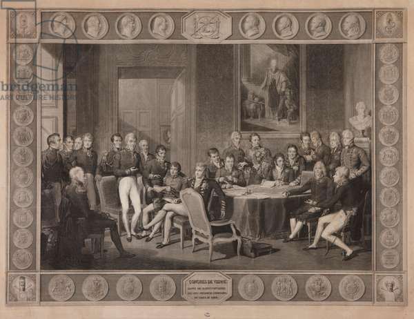 Congress of Vienna, plenipotentiary session, 1819 (engraving)