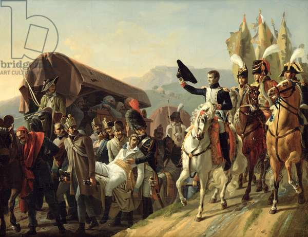 Napoleon (1769-1821) Pays Homage to the Courage of the Wounded, 1806 (oil on canvas)