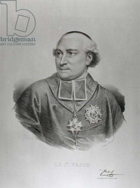 Portrait of Cardinal Joseph Fesch (1763-1839) engraved by Francois Seraphin Delpech (1778-1825) (engraving) (b/w photo)
