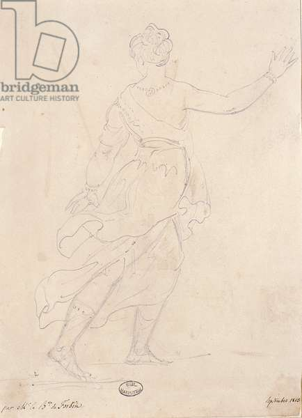 Woman from the back, 1813 (pencil on paper)