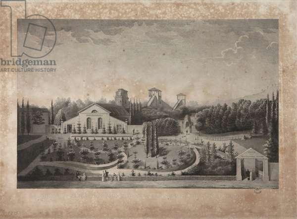 Amusement park with Panstéréorama (litho)