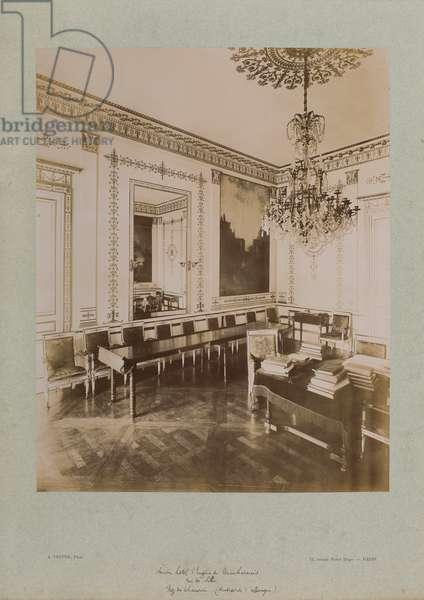 The old Hotel d'Eugène de Beauharnais, rue de Lille (sepia photo)