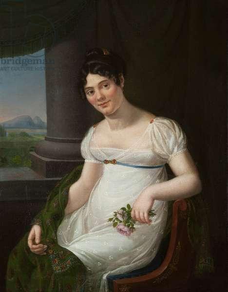 Half length portrait of La Duchesnois (oil on canvas)