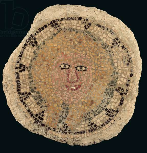 Mosaic floor with the head of Medusa, possibly from Asia Minor, Late Roman Period (3rd-4th century AD) (marble)