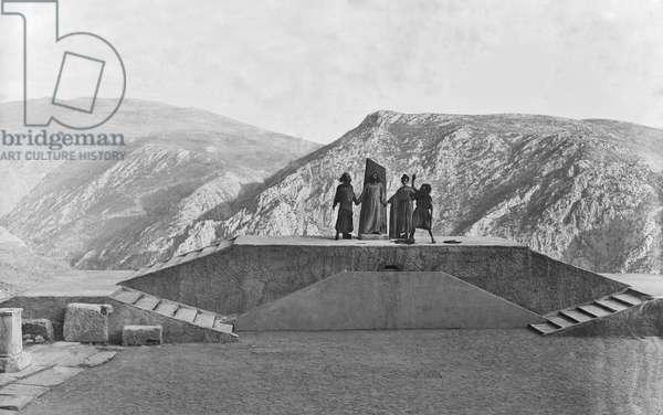 'Prometheus in Chains', The Delphi Festival, 1930 (b/w photo)