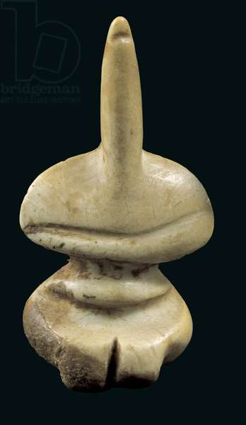 Statuette of a female figure, Middle to Late Neolithic Period (5800-4500 BC) (marble)