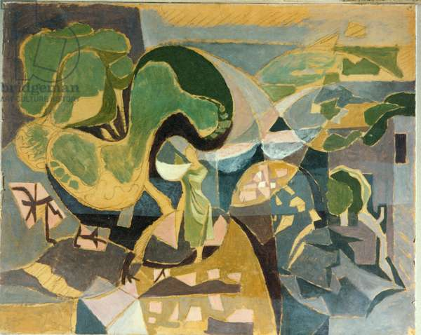 Pine and Woman, 1934-35 (oil on canvas)