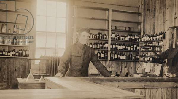 Military Pharmacy, WWII (postcard)