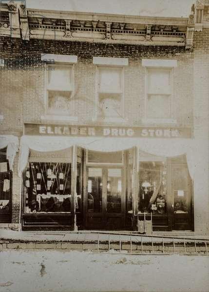 Elkader Drug Storefront, c.1880 (cabinet card)