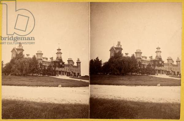 National Soldiers Home, Ohio, USA, c.1870 (stereoview)