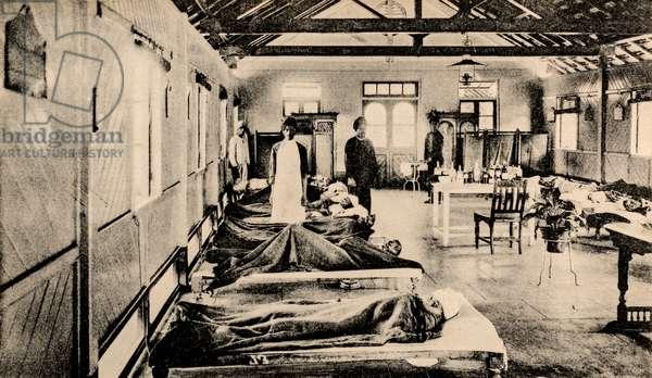 Plague Patients, Bombay, Bombay, India, c.1896 (postcard)