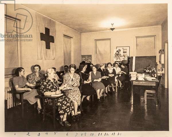 Red Cross Nurses in Class #1, USA, 1938 (silver gelatin print)