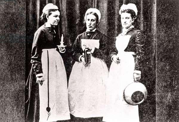 Group Portrait of Bellevue Hospital Nurses, New York, NY, USA, c.1878 (silver gelatin print)