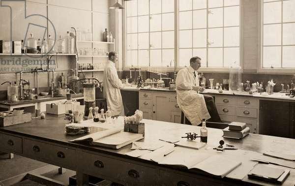 Bacteriological Department, KE Hospital, 1916, France, 1916 (postcard)