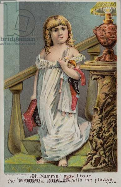 Cushman's Menthol Inhaler Advertisement, Three Rivers, MI, USA, c.1890 (illustration)