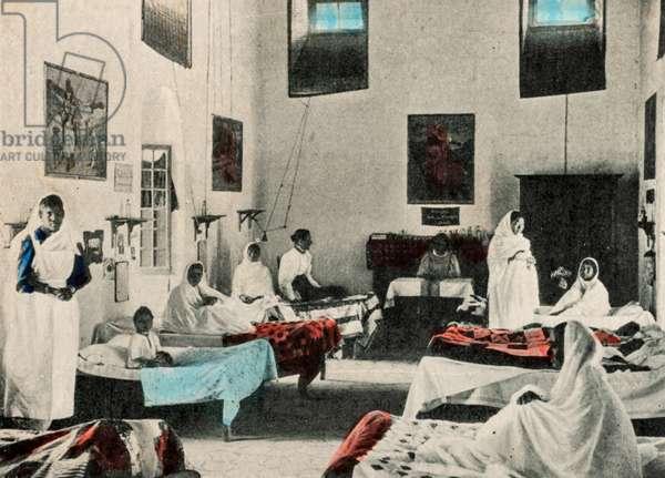 Ward in Emmanuel Hospital, Ajnala, Ajnala, India, c.1920 (postcard)