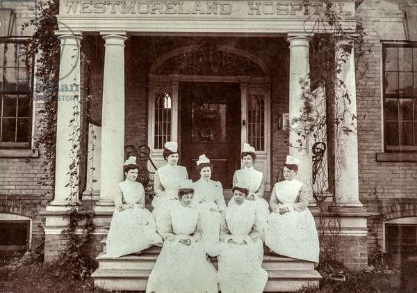 Group of Nurses at Westmorland Hospital, UK (?), c.1915 (silver gelatin print)