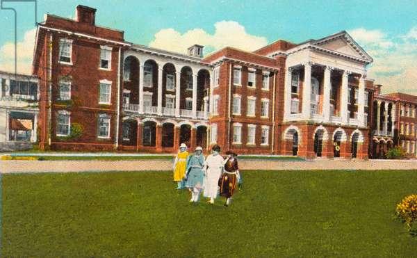 South Caroline Institute for Deaf, Dumb and Blind, Cedar Springs, Spartanburg, South Carolina, USA (postcard)