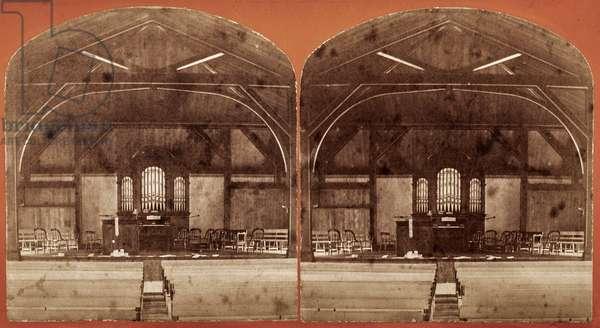 Chapel at the Willard Asylum, Ovid, NY, US, c.1875 (stereoview)
