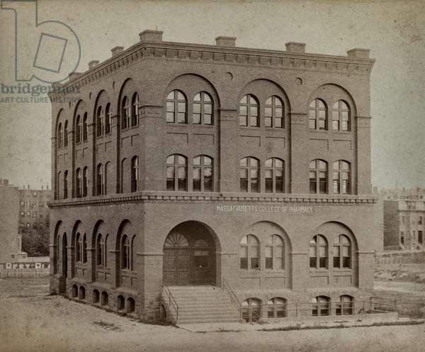 Massachusetts College of Pharmacy, Massachusetts, USA, c.1900 (silver gelatin print)